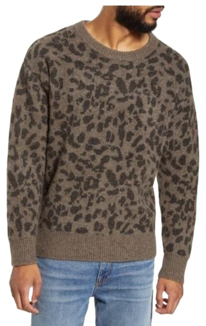 Item - Neville Leopard Print Desert Taupe Combo Sweater