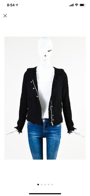 Item - Black Tweed Frayed Jacket Size 2 (XS)