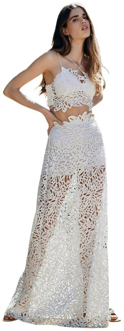 Item - White Fp One Lissa Limited Edition Skirt Top Short Set S Long Casual Maxi Dress Size 6 (S)