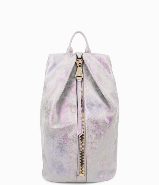 Item - Pastel Tie Dye with Iridescent Shimmer. Gold Hardware. Leather Backpack