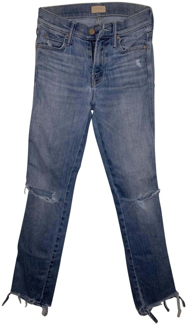 Item - Wild Distressed The Rascal Ankle Rn 133376; Style# 1194546; Cut# 606848 Straight Leg Jeans Size 24 (0, XS)