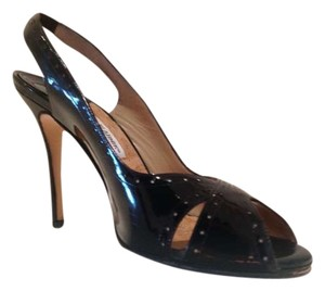 Manolo Blahnik Black patent leather Sandals
