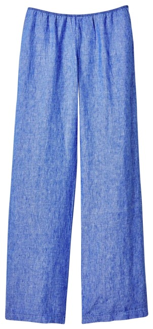 Item - Blue with White Linen Pants Size 00 (XXS, 24)