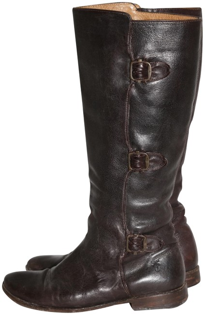 Item - Brown Paige 3 Buckle Women's Dark Leather Boots/Booties Size US 8 Regular (M, B)