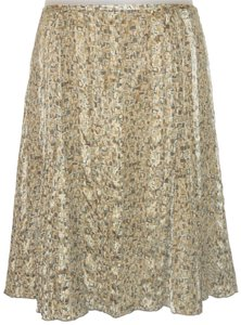 Talbots Silk Print Skirt Multi Color