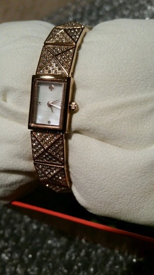 Kate Spade Kate Spade New York Pave Rose Gold Tone Cobble BLING Watch $275 NEW WITH TAG IN DESIGNER BOX