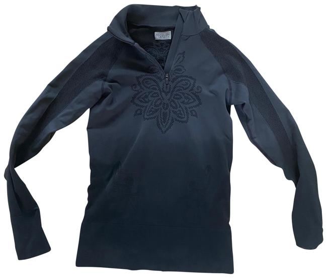 Item - Gray Ombré Like New Perforated Design Small Activewear Top Size 4 (S)