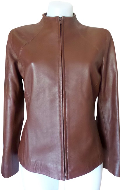 Item - With Tag Leather Jacket Size 4 (S)