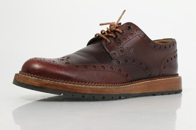 Item - Brown Oxford Wingtip Lace Up Shoes
