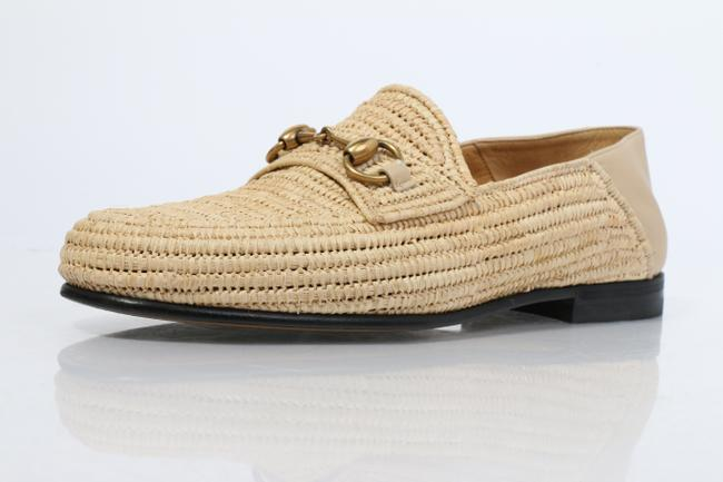 Item - Beige Easy Roos Straw Loafers Shoes