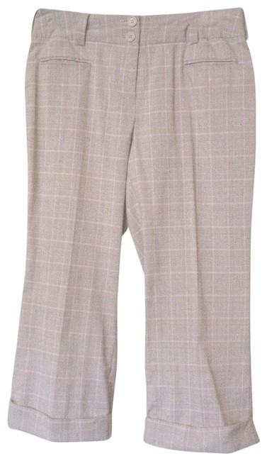 Item - Brown Pink and Glen Plaid Casual Cuffed Pants Trousers M Ec Capris Size 8 (M, 29, 30)
