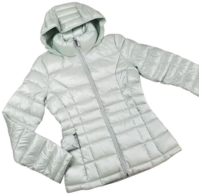 Item - Green Packable Down Puffer Hooded Jacket Coat Size 14 (L)