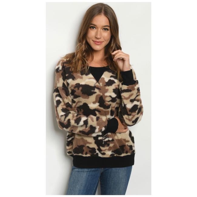 Item - Camouflage Teddy Pullover Blouse Size 4 (S)