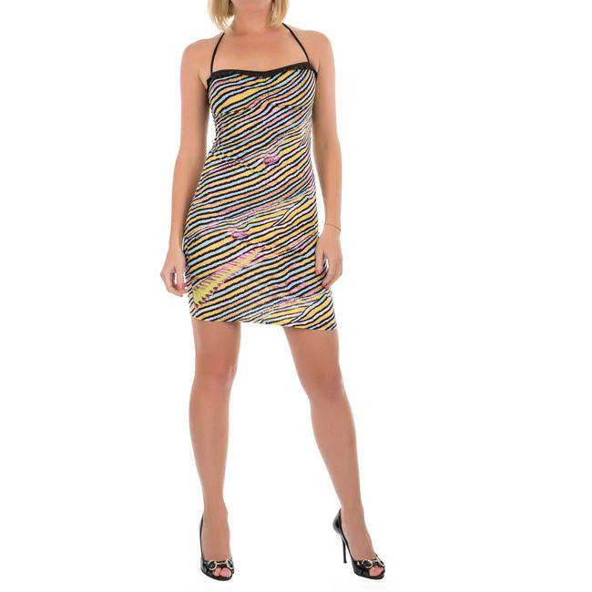 Item - Black New Women Striped Bodycon Open Mini Beach & Party Short Casual Dress Size 8 (M)