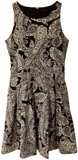 Item - Brown Paisley Fit and Flare Short Casual Dress Size 4 (S)