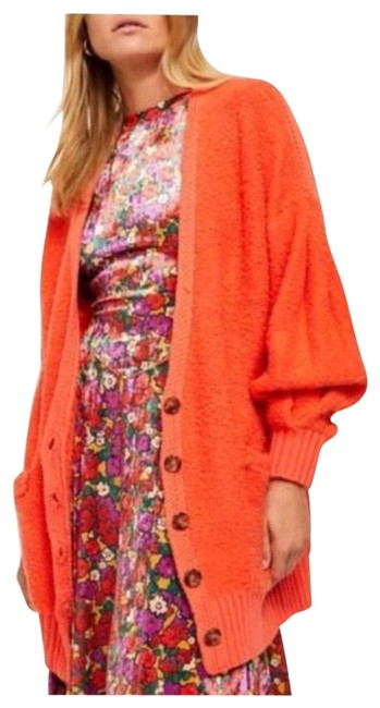 Item - Orange Snow Drop Cardigan Size 12 (L)