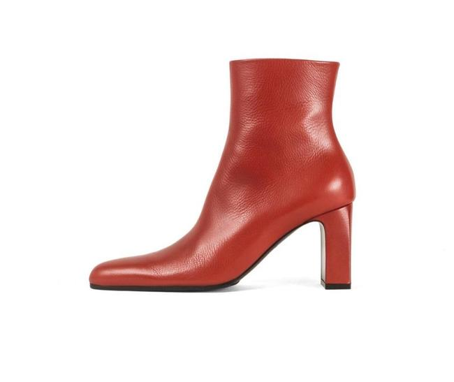 Item - Red New Paprika Pointy Toe Leather Ankle Boots/Booties Size EU 37 (Approx. US 7) Narrow (Aa, N)
