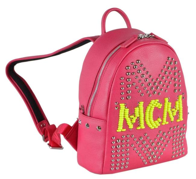 Item - New Love Potion Stark Small Studded Pink Leather Backpack