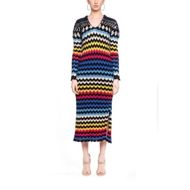 Item - Multicolor Modern Chevron Sweater Long Casual Maxi Dress Size 4 (S)