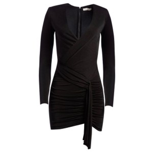 Item - Black And Kyra Draped Ruched  Night Out Dress
