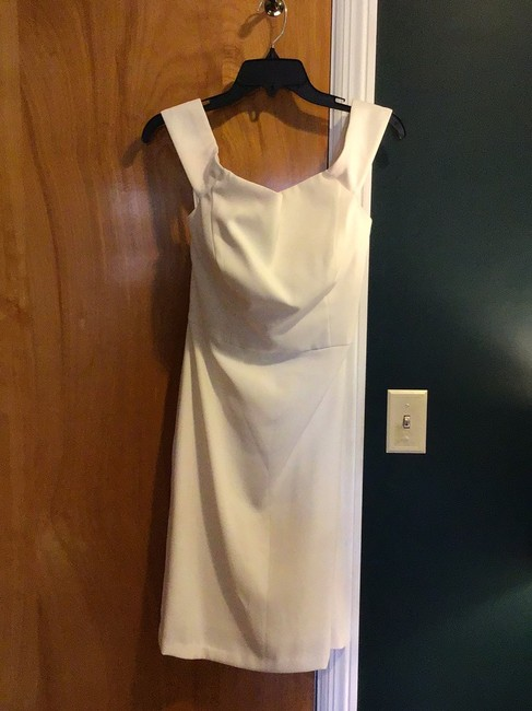 Item - White Polyester Collection Cocktail Casual Wedding Dress Size 8 (M)