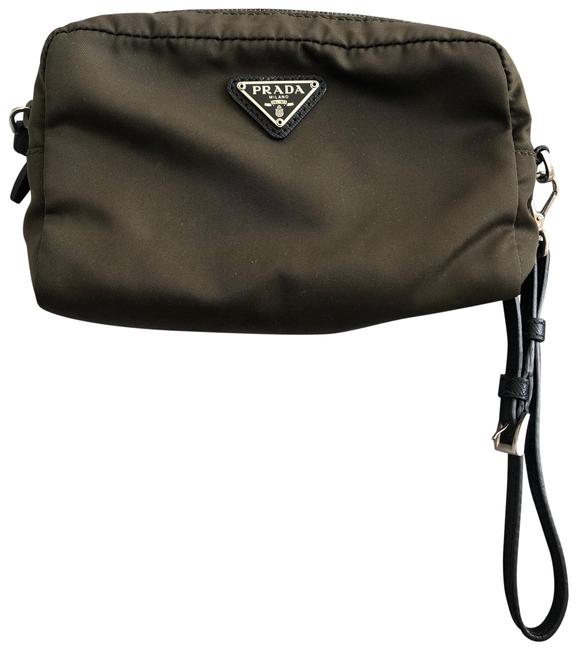 Item - Cosmetic Pouch Nylon Camouflage Green Wristlet