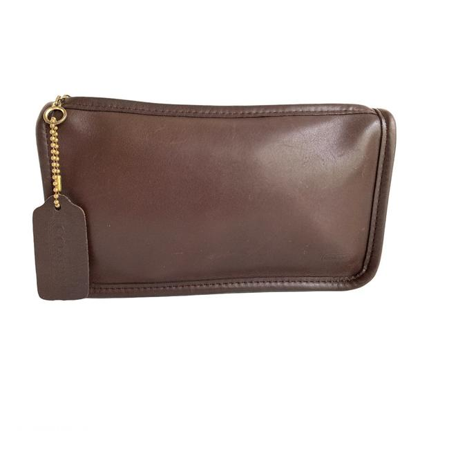Item - Smooth Pouch Brown Leather Clutch