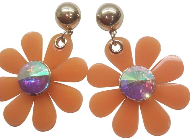 Item - Orange New Flower Earrings