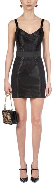 Item - Black Dolce and Gabbana Corset In Short Casual Dress Size 8 (M)