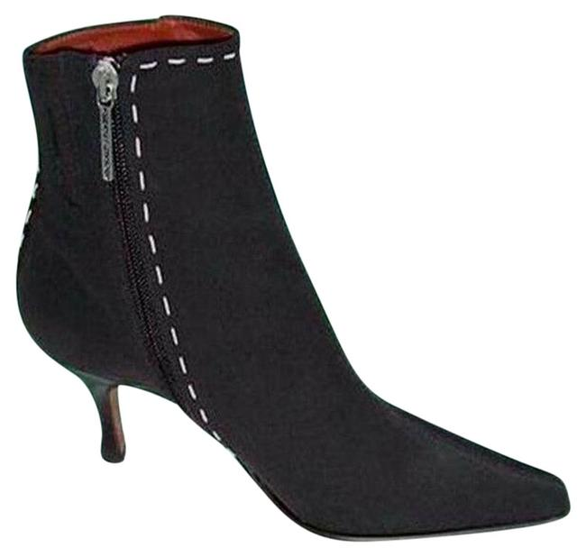 Item - Couture Expresso Silk Elastic Leather New Signature Boots/Booties Size US 6.5 Regular (M, B)