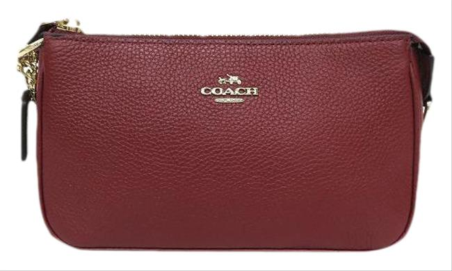Item - Chain Handle 53077 Pouch Ladies Red Color Leather Clutch