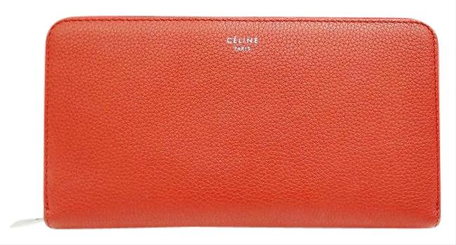 Item - Red Color Leather Long Bill (Bi-fold) Wallet