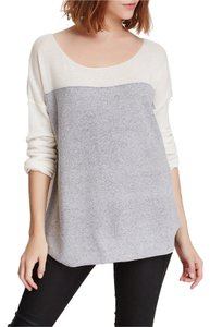 Vince Cashmere Casual Grey White Fall Outfit Spring Outfit Sweater