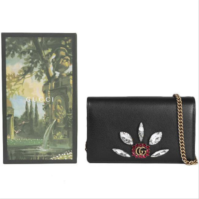 Item - Black Chain Marmont Gg Crystal Leather 499782 Wallet
