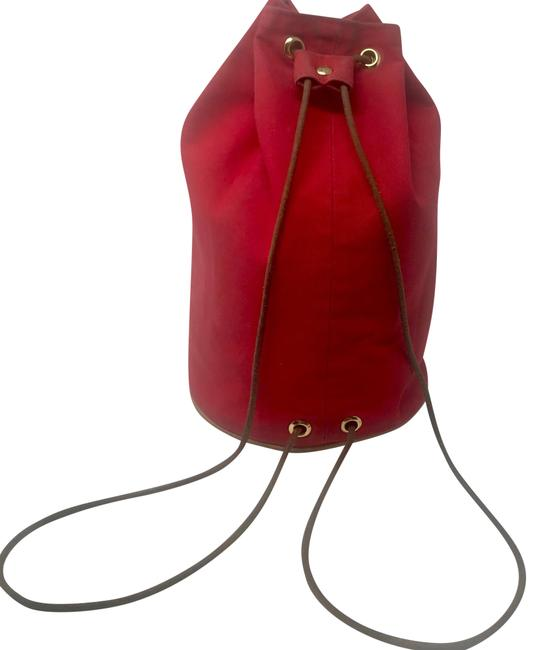 Item - Polochon Mimile Cinch Red Toile Backpack