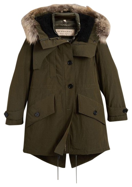 Item - Green With Puffer and Fur Trim Coat Size 10 (M)