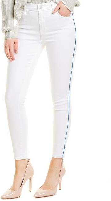 Item - White Light Wash High-rise Crop Skinny Jeans Size 4 (S, 27)