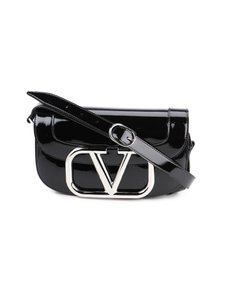 Item - Spk Garavani Vlogo Black Leather Shoulder Bag