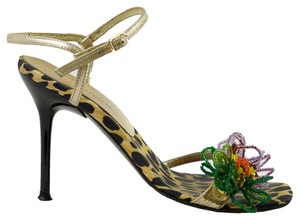 Dolce&Gabbana Gold/Black/Multi Sandals