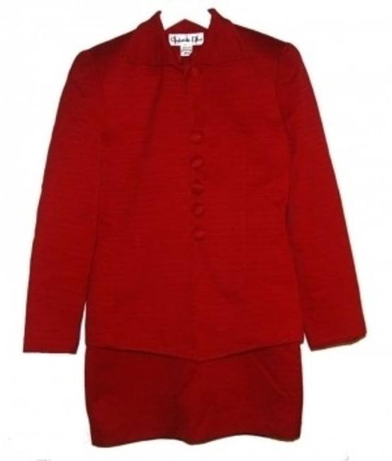 Preload https://img-static.tradesy.com/item/28018/dior-red-textured-skirt-suit-size-2-xs-0-0-650-650.jpg