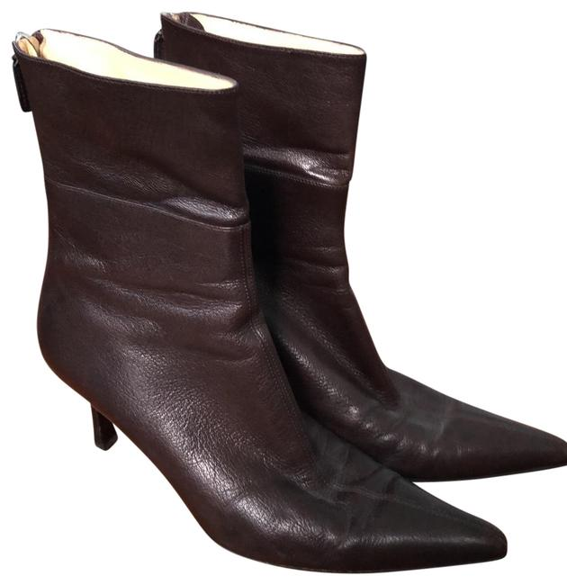Item - Brown Dark Leather Classic Boots/Booties Size US 7.5 Regular (M, B)