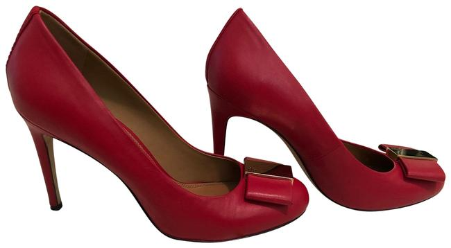 Item - Red Chase Leather Pumps Size US 9 Regular (M, B)