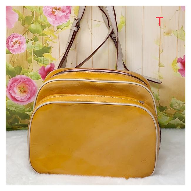 Item - Vernis Yellow Leather Backpack