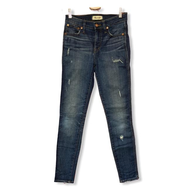Item - Blue Distressed Mid Rise Skinny Jeans Size 0 (XS, 25)