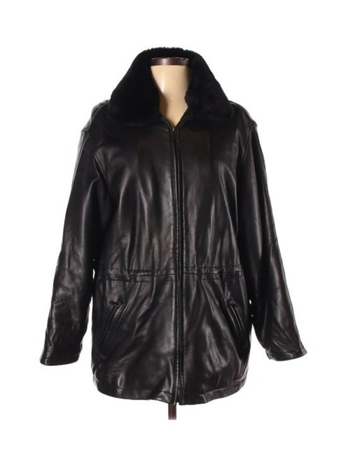 Item - Black New York Insulated with Removable Fau Jacket Size Petite 12 (L)