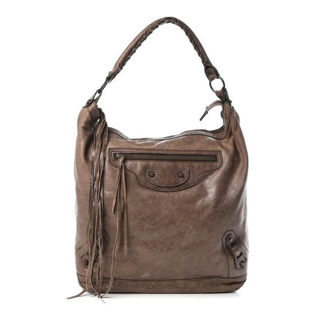 Item - Hobo Day Olive Brown Lambskin Leather Shoulder Bag