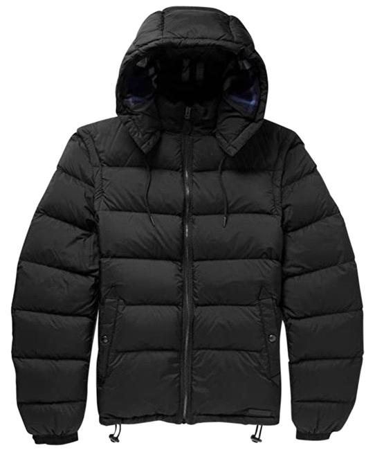 Item - Black Men's 2 In 1 Padded Quilted Jacket Coat Size 6 (S)