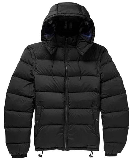 Burberry Black 2 In 1 Padded Quilted Jacket Men's Coat Size 12 (L) Burberry Black 2 In 1 Padded Quilted Jacket Men's Coat Size 12 (L) Image 1