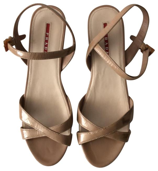 Item - Nude Patent Leather Wedges Size EU 39 (Approx. US 9) Regular (M, B)