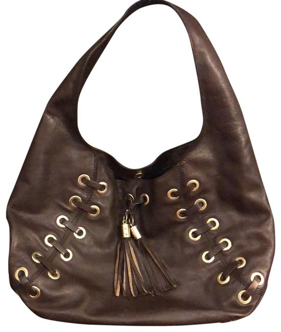 Item - Great Rich Dark Brown with Gold Grommets Leather Hobo Bag